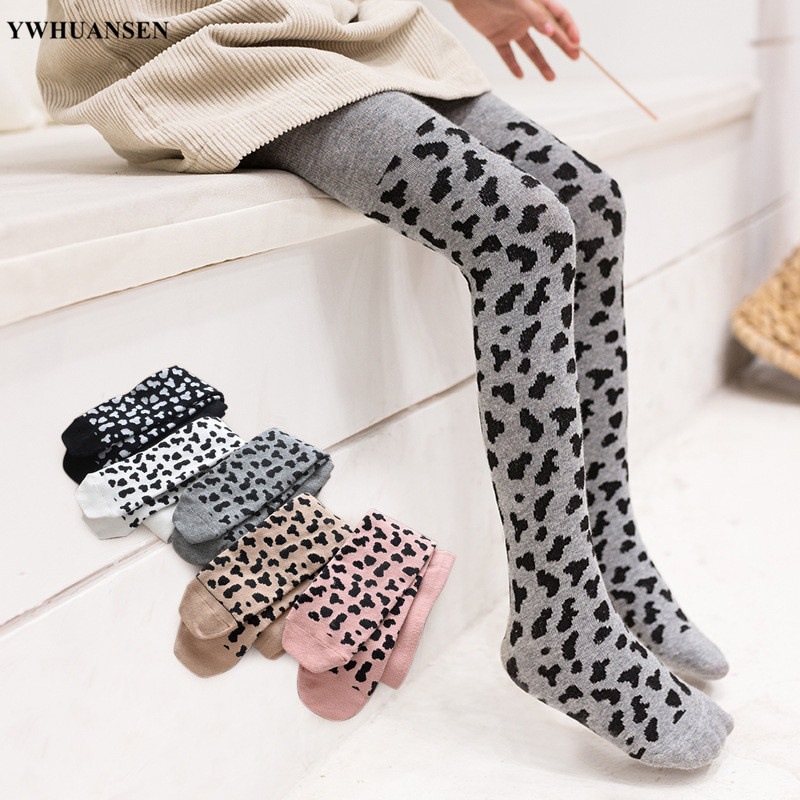 YWHUANSEN 0 To 12 Yrs Combed Cotton Baby Leotards Leopard Print Children's Tights For Girls Fashion Kids Clothes Girl Pantyhose