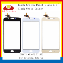 цена на 10Pcs/lot Touch Screen For Motorola Moto G5 XT1672 XT1676 XT1670 Touch Panel Digitizer Sensor Front Outer LCD Glass Lens G5