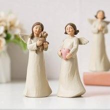 Nordic creative resin angel figure statue modern artist home decoration hall bookcase sculpture statue wedding decoration gift
