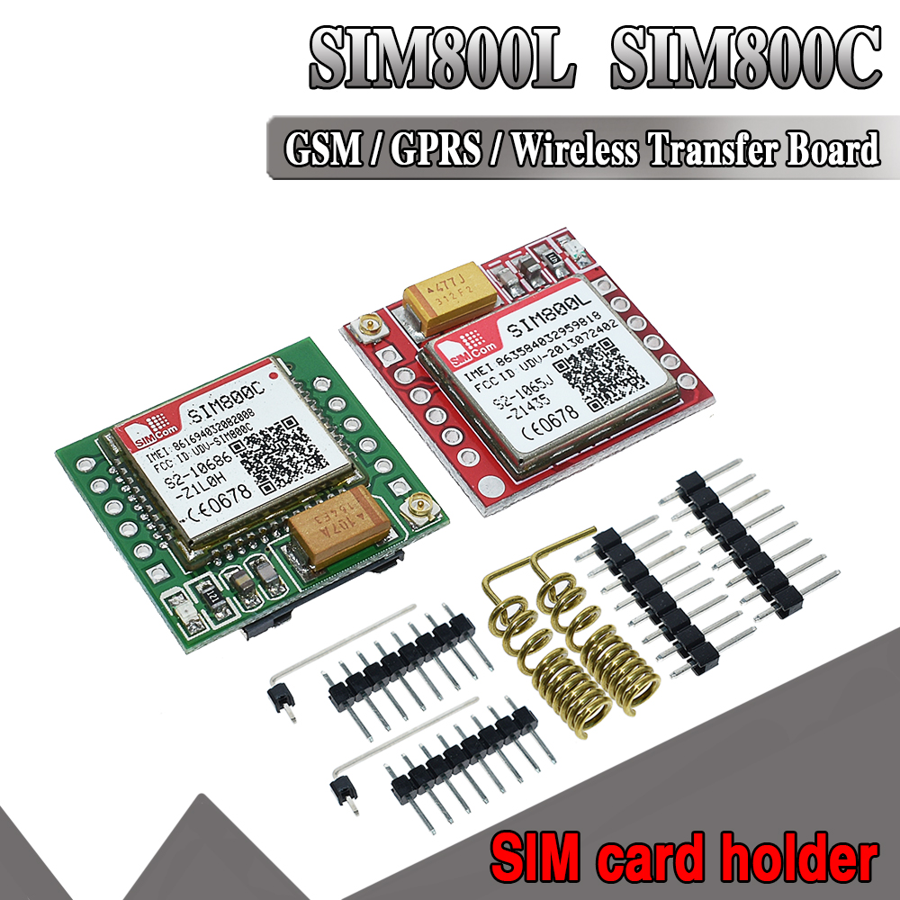 WAVGAT Smallest SIM800L SIM800C GPRS GSM Module MicroSIM Card Core BOard Quad-band TTL Serial Port