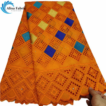 Swiss voile lace in switzerland embroidered nigerian orange lace fabrics 2019 high quality lace cloth material cotton fabrics