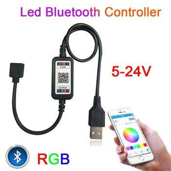 Mini RGB Bluetooth Controller USB Music Controller 5V 12V 24V Rgb Led controller 12v For LED Strip Light 5630 5050 3528 2835 лазер светодиодная линейка 5630 72 led daywhite 12v