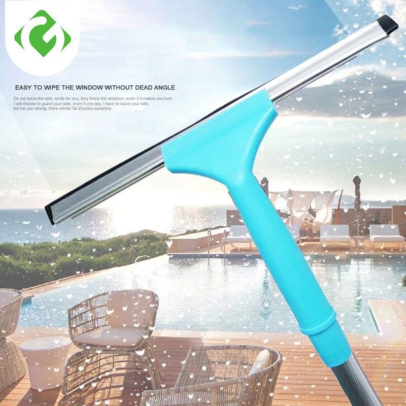 Limpeza de vidro do agregado familiar haste longa retrátil haste alumínio raspador portátil ferramenta limpeza da parede janela borracha acessórios