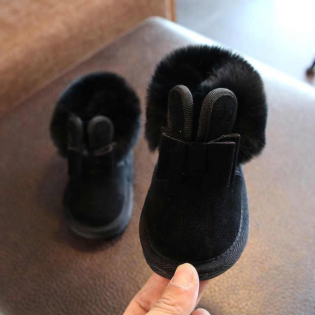 2019 зимние ботинки для малышей теплые плюшевые зимние ботинки для маленьких девочек и мальчиков уличные ботинки с мягкой нескользящей подошвой для детей