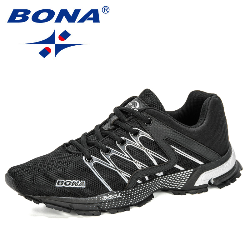 BONA 2020 New Arrival Running Shoes Men Outdoor Sports Shoes Sneakers Man Athletic Training Footwear Male Walking Footwear Comfy