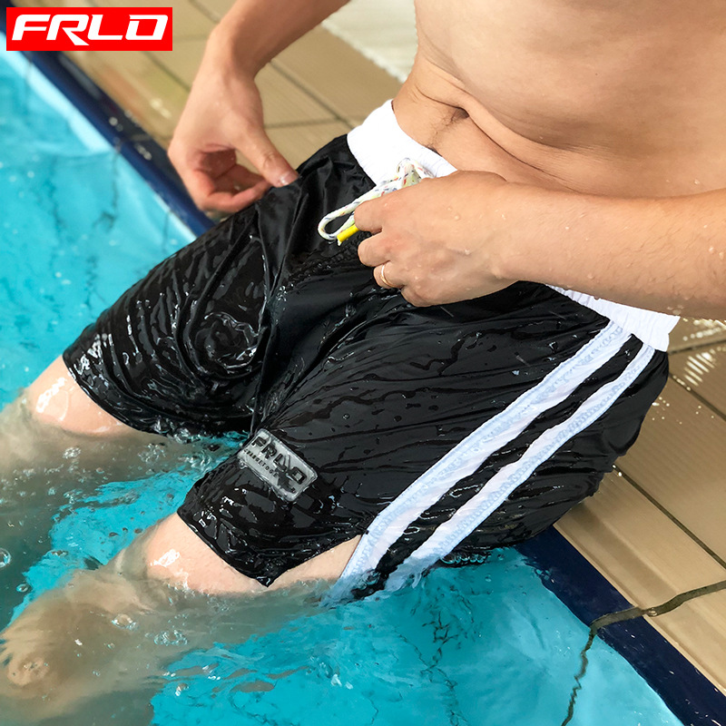 New Style Swimming Trunks Men's Boxer Swimming Men Quick-Dry Seaside Loose Fashion Fashion Large Size Comfortable Swimming Beach