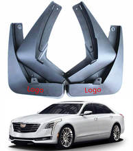 4 x Molded ด้านหลัง Mudguards สำหรับ Cadillac CT6 CT 6 2016 2017 2018 Mud Flaps Splash Guards รถ fender Mudflap(China)