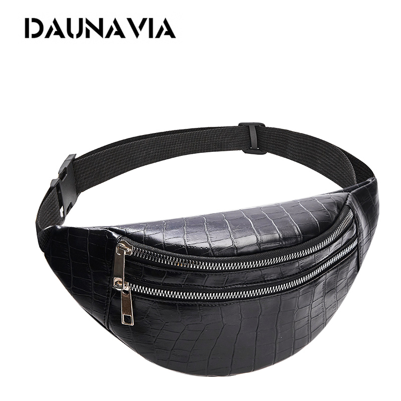 Crocodile chest bag waist packs for unisex female Pu leather fanny packs 2019 new women Fashion high quality belt chest bags