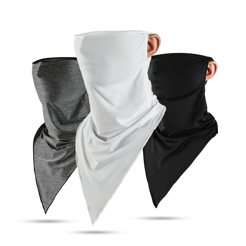 1pc Summer Solid Ice Cool Unisex Face Mask Scarf Breathable Soft Adult Mouth Mask Outdoor Sports Running Cycling Scarf Face Mask