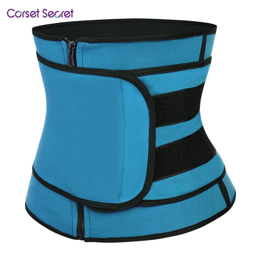 Corset Secret Women Waist Trainer Zipper Slimming Body Shapers Neoprence Sauna Suit Waist Trainer Adjustable Waist Trimmer Belt in Waist Cinchers from Underwear Sleepwears