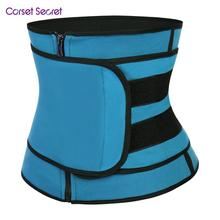 Corset Secret Women Waist Trainer Zipper Slimming Body Shapers Neoprence Sauna Suit Adjustable Trimmer Belt
