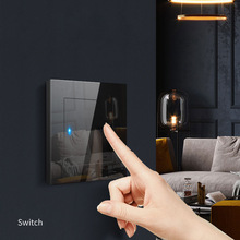 Smart Switch Glass Panel Touch Switch For LED Light Bulb AC 220V 230V EU/UK Standard 1 Gang 2 Way Smart Wall Touch Screen Switch