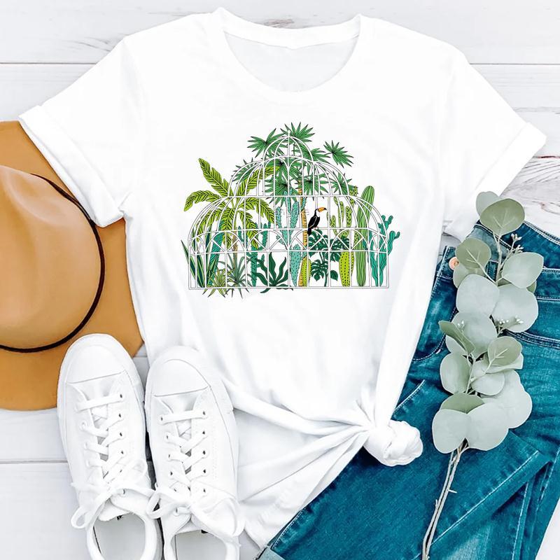 2021 Beach Holiday Summer Short Sleeve Women Cartoon Strawberry Cute Fashion Clothes Print Tshirt Female Tee Top Graphic T-shirt 2