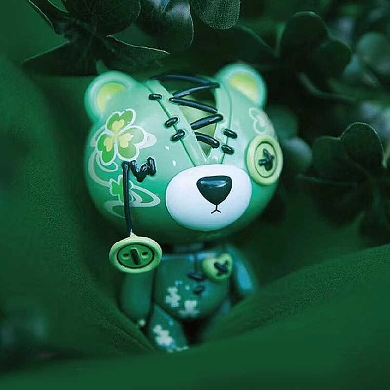 Gözyaşı ayı çiçek dünya bai'jianries kör kutu masaüstü süsler kuklaları modeli gelgit oyun kapsül oyuncak kız sevimli hediye