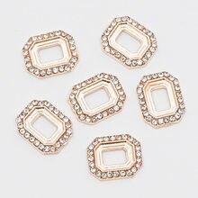 Marco de encaje calado para decoración de uñas, accesorios de aleación de Metal 3D de oro de lujo Vintage, accesorios para manualidades de joyería DIY, 10 Uds.