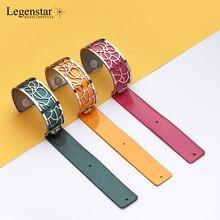 Legenstar pulsera de acero inoxidable para mujer, brazalete intercambiable, joyería