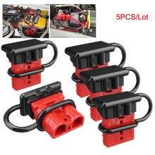 5 шт./лот, 600 В, 50 А, аккумулятор для прицепа, зарядное устройство, быстрое подключение, инструмент для отключения, лебедка, Электрический жгут проводов, соединитель, красный