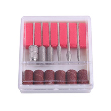 Nail-Grinder-Set Manicure-Tool-Kit for Daily-Use 100pcs Frosted-Ring Red Red