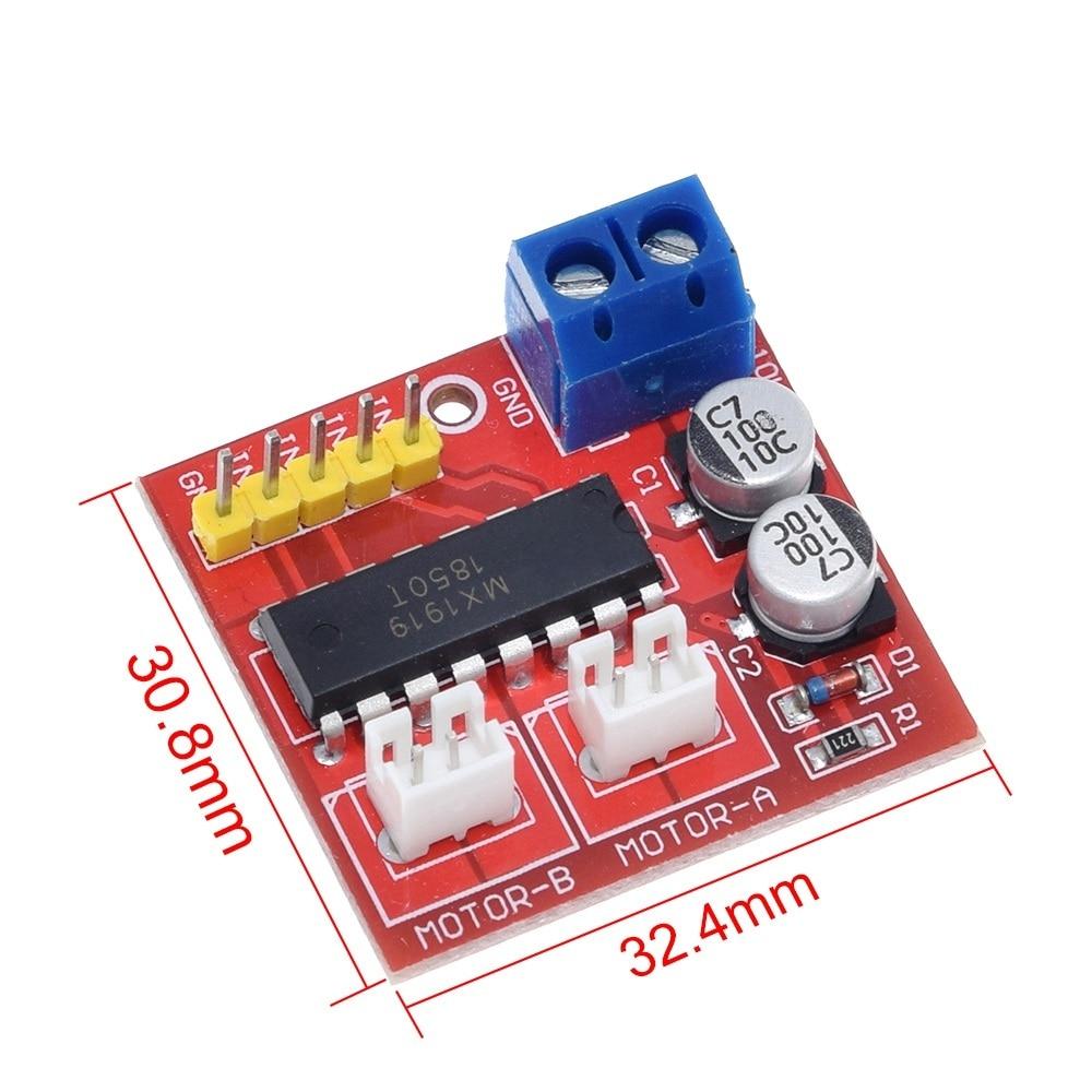 2.5A Dual bridge brushed DC motor Drive Controller Board Module for Arduino smart car robot Low power consumption MX1919
