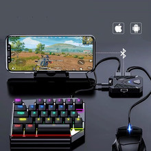 Mobile Game Keyboard and Mouse Adapter, PUBG/Call of Duty Controller Converter Wired/Wireless for Android/(iOS Less than 13.4)