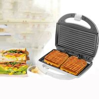 Elektrische Waffeleisen Nicht-Stick Einstellbare Temperatur Control Backen Edelstahl Doppelseitige Sandwich Frühstück Maschine