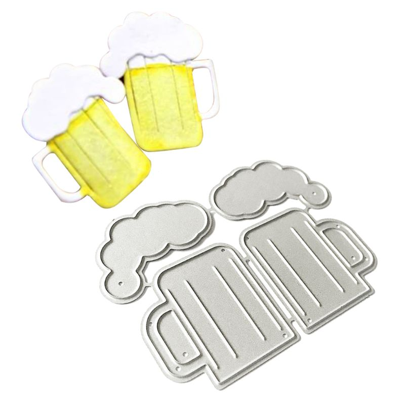 Beer Metal Cutting Dies Stencil Scrapbooking DIY Album Stamp Paper Card Emboss