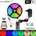 WIFI водонепроницаемый RGB светодиодный светильник 5 м 10 м 15 м светодиодный светильник DC12V Fiexble ленточный светодиодный светильник Шоппинг карна...