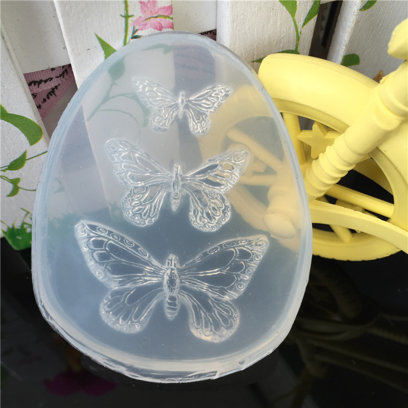1pcs UV Resin Jewelry Liquid Silicone Mold Animal Butterfly Resin Charms Molds for DIY Intersperse Decorate Making Molds