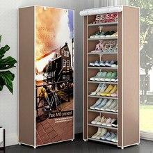 Armário de sapato multicamadas à prova de poeira sapatos armário de armazenamento em casa espaço-economia fácil montado organizador titular móveis sapato rack