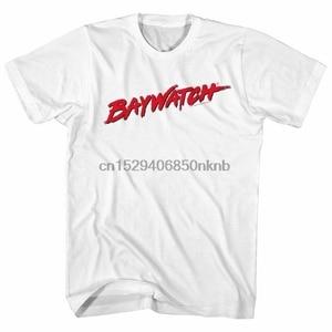 Baywatch erkek kısa kollu tişört beyaz Logo Crewneck grafik moda Tee