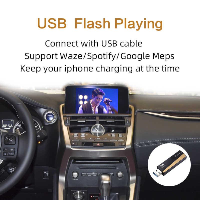 """אלחוטי CarPlay, לקסוס NX ES ארה""""ב הוא CT RX GS LS LX LC RC 2014-2019 מולטימדיה ממשק CarPlay & אנדרואיד אוטומטי Retrofit ערכת"""