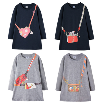 Brand Girl Dress Fashion 2020 New Autumn Winter Kids Dresses For Girls Long Sleeve Princess Baby Toddler Clothes 2-7 Y