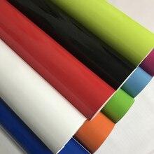 Hohe Qualität Helle Glossy Vinyl Auto Aufkleber Wrap Aufkleber Schwarz Weiß Gloss Film Wrap Folie Für HAUBE Dach Motorrad Roller