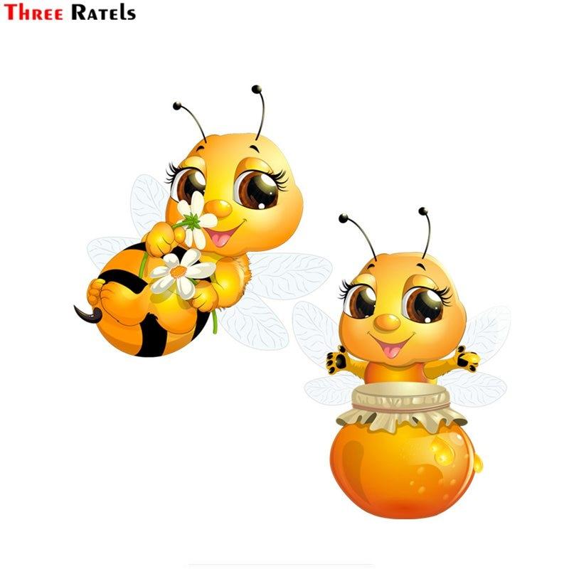 Three Ratels FTC-667# Cartoon Beatiful Lovely Honey Bee Wall Bedroom Computer Auto Car Sticker Decoration
