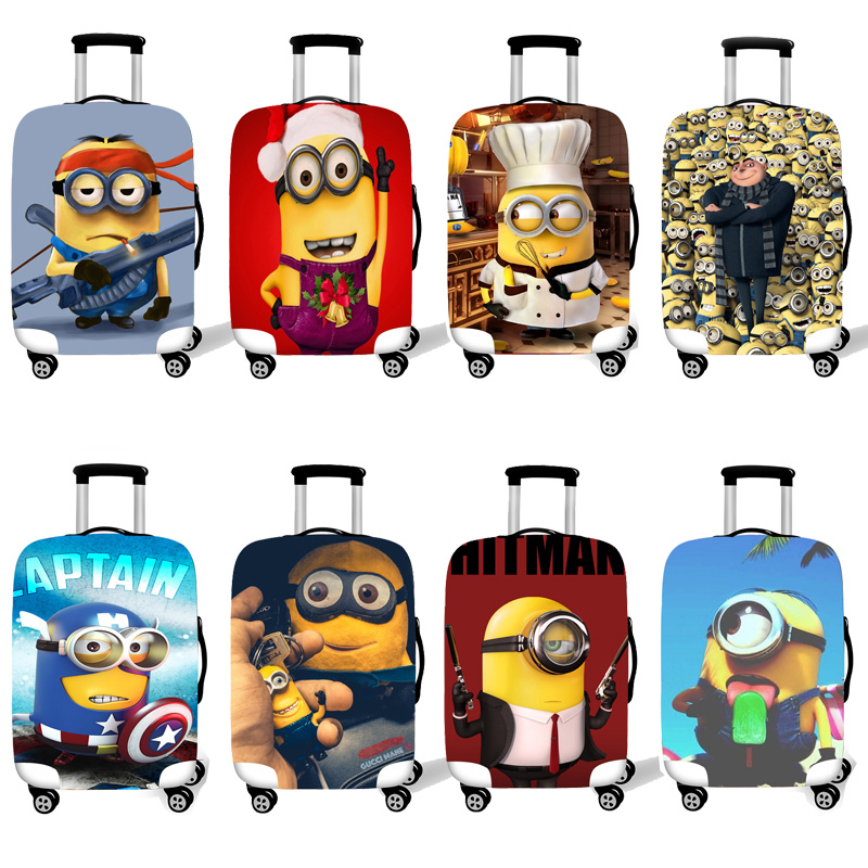 Elastic Luggage Protective Cover Case For Suitcase Protective Cover Trolley Cases Covers 3D Travel Accessories Minions Pattern T image