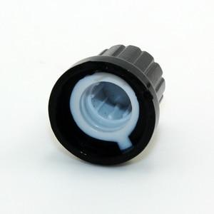 Image 3 - 10 Chiếc 6Mm Trục Đường Kính Lỗ Khoan Nhựa Ren Knurled Chiết Áp Núm Nắp Bộ Mã Hoá Quay Núm Điều Khiển Âm Lượng Núm