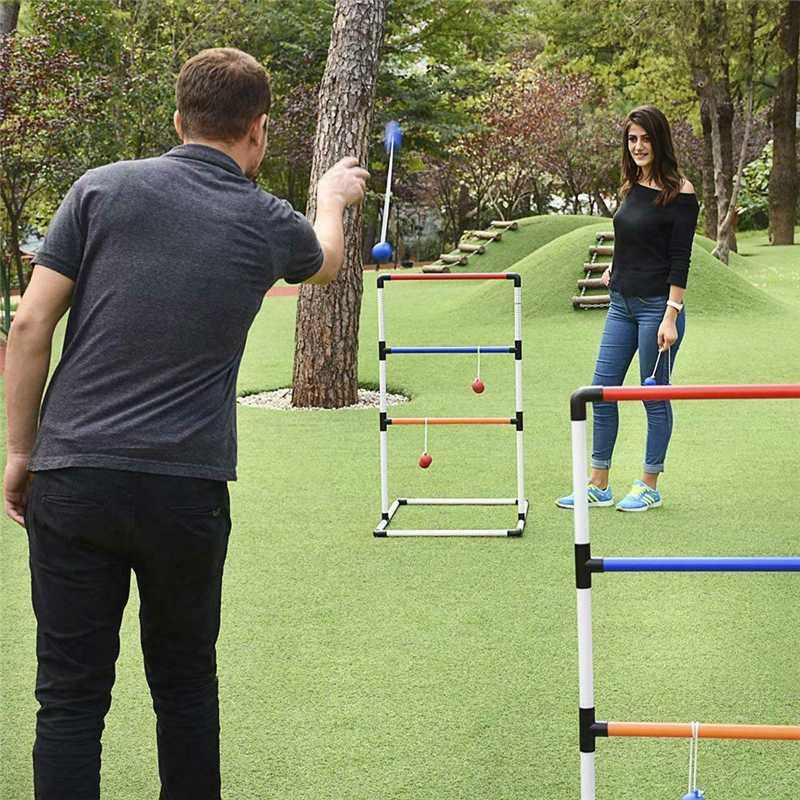 Outdoor Games Parent-Child Golf Ladder Ball Childrens Toy Ladder Shelf Parabolic Shelf Throwing Game Backyard Lawn Portable Game