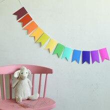 Украшение для детской комнаты, украшение для рождественской вечеринки, флаг ласточкин хвост, флаг для вечеринок на Хэллоуин, день рождения, празднование, Висячие флажки