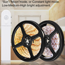 1M 2M 3M Motion Sensor LED Night Lamp Bed Cabinet Stairs light LED Strip lamp 5V Led Strip Battery Powered TV Backlight lighting pir motion sensor battery led strip light 3528 waterproof bed cabinet closet light 1m 2m 3m 5v usb led strip lamp tv backlight