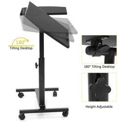 Laptop Stehen Roll Warenkorb Schreibtisch Einstellbare Höhe Laptop Tisch Schreibtisch Bett Sofa Tablett Roll Tragbare Notebook Schreibtisch mit Räder