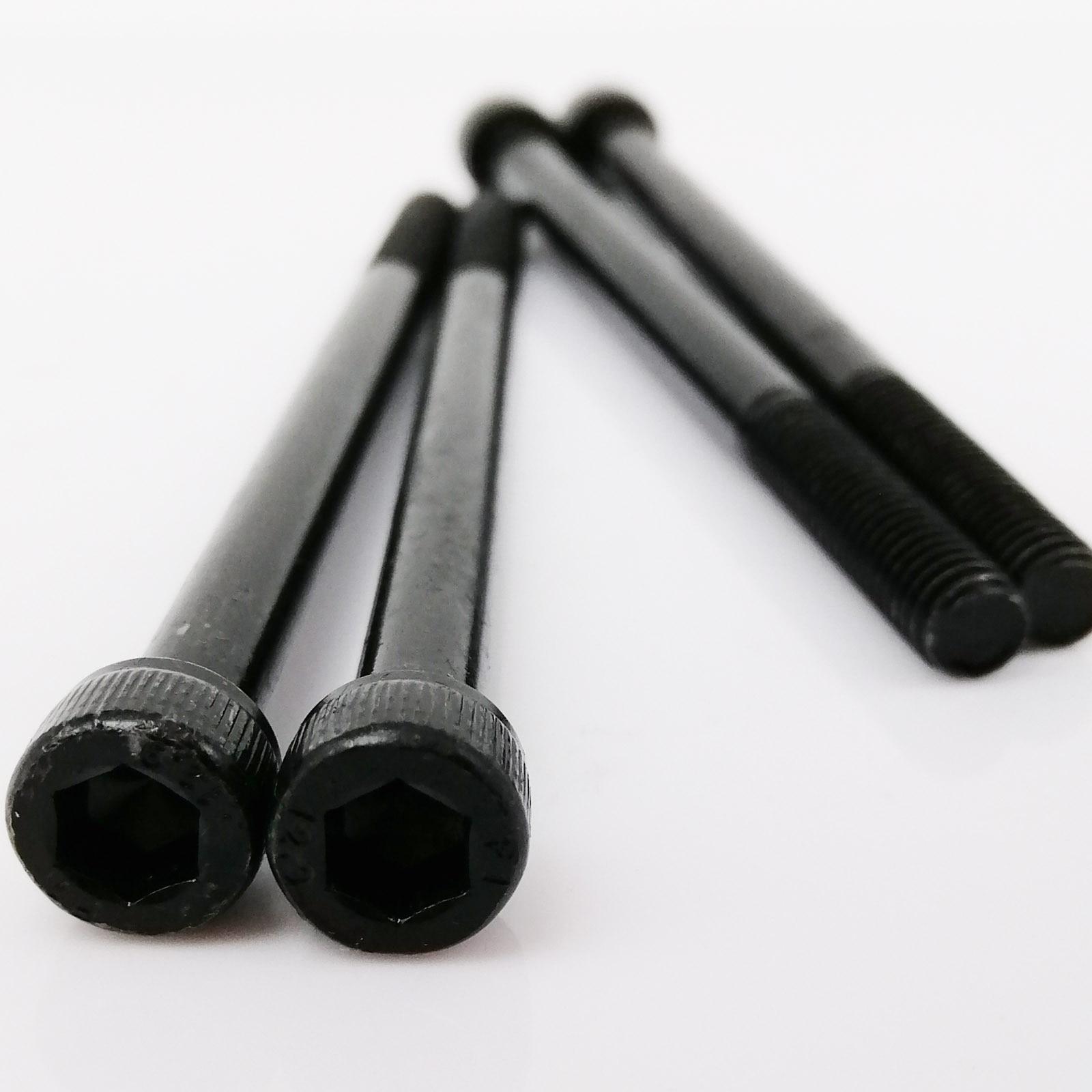 1/10 шт. M3 M4 M5 M6 M8 удлиненный шестигранный болт из стали марки 12,9 черного цвета с шестигранным углублением головки болта с полурезьбой L = 30-300 мм