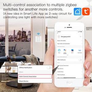 Image 4 - WiFi ZigBee akıllı Push Button anahtarı nötr gerekli akıllı yaşam Tuya APP Alexa Google ev ses kontrolü 2/3 yollu ab İngiltere yeni
