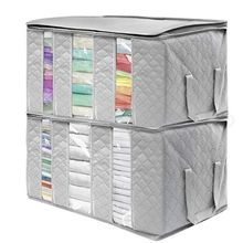 3PCS Clothes Storage Bags Thick Foldable Organizer Storage Bins for Clothes