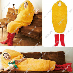 Fried Shrimp Mascot Costume Cosplay Sleep Bag Blanket Adults Outfit Suit Warm Party Game Fancy Dress Clothing Parade Halloween