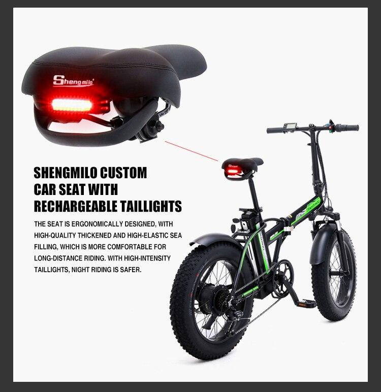 Электрический велосипед, 20 дюймов, складной электрический велосипед, 500 Вт, 48 В, батарея для горного велосипеда, электровелосипед, Электриче... - 6