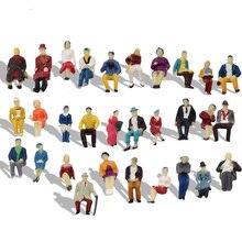 60 szt. Skala HO 1: 87 wszyscy siedzący pasażerowie siedzący figurki model pociągu układ P8711