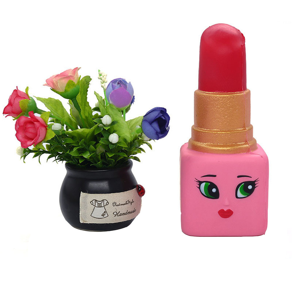 Cosmetics  Toys Girls Makeup Tools Set Simulation Lipstick  Slow Rising Squeeze Relieve Stress Toy For Kids L1218