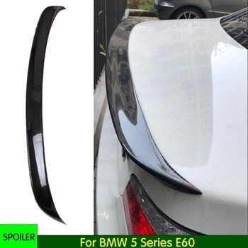 E60 аксессуары, крыло багажника из углеродного волокна, спойлер для багажника BMW 5 серии E60 520i 525i 530i Седан 4 двери 2004 2010