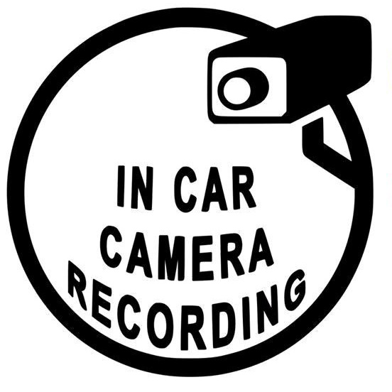 13.7CM*13.8CM Interesting In Car Camera Recording Vinyl Black/White Car Sticker Exterior <font><b>Accessories</b></font> for <font><b>Lexus</b></font> GS300 IS250 <font><b>GX470</b></font> image