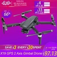 Nuovo X19 Drone 4K HD 2 assi Gimbal doppia fotocamera con 5G WiFi GPS FPV spazzole aereo RC Dron professionale pieghevole Quadcopter giocattoli